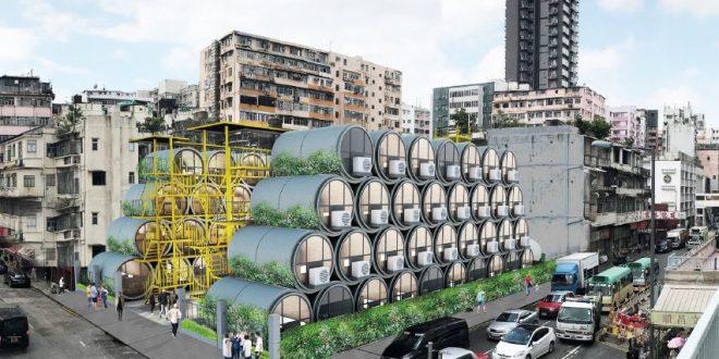 Conheça apartamentos feitos de tubos de água de concreto reutilizados