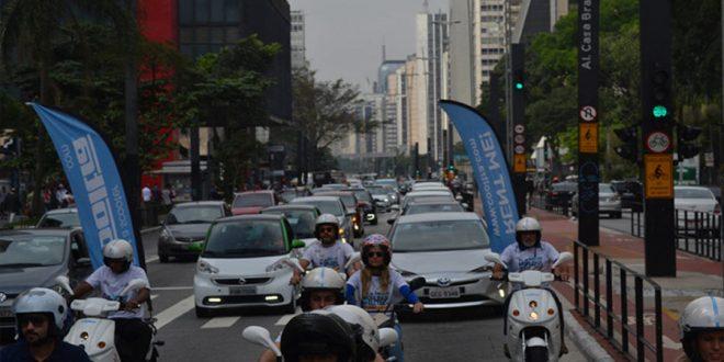 Dia da Mobilidade Elétrica reúne 150 veículos elétricos em carreata pela Avenida Paulista